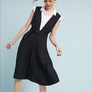 Anthropologie Maeve bryony apron dress black